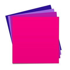 Colored sheets of paper on each other, magenta