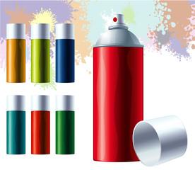 Graffiti color spray. Vector.