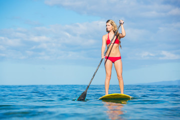 Woman on Stand Up Paddle Board
