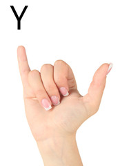 Finger Spelling the Alphabet in American Sign Language (ASL).