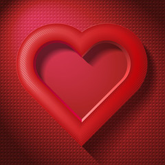 frame as a heart