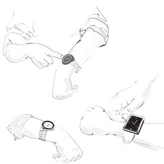 watch on the hands