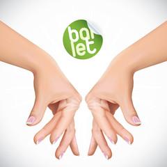 Vector Ballet Hands Illustration