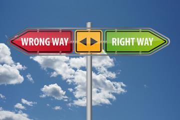 Wrong Way vs Right Way