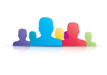 Businessman user social media icon group