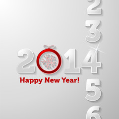 Counting 2014 year Happy New Year