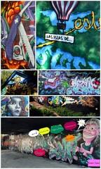 Fotobehang Graffiti collage inspiration banlieusarde