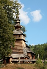wooden orthodox church in Kotan near Krempna