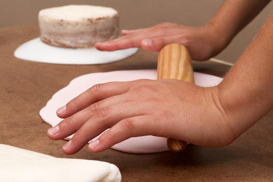 Cake and kitchenware