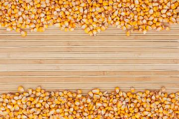 Corn on a bamboo mat