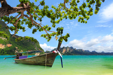 Tropical beach, Krabi, Thailand - fototapety na wymiar