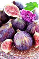 fresh juicy figs fruit on a plate