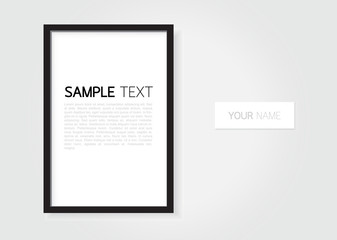 Photo frame on wall for gallery portfolio