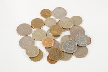 A heap of russian coins