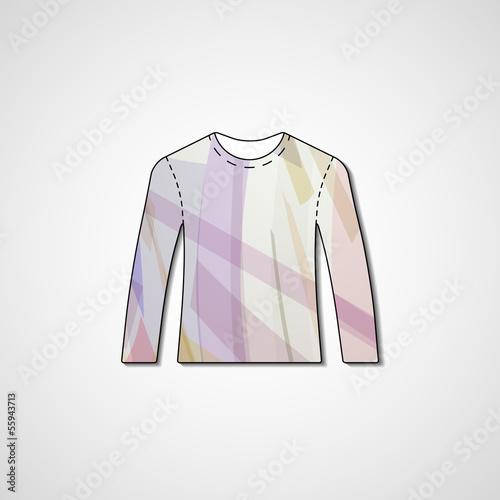 98b7ea981 Abstract illustration on sweater