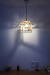 a lamp in the room