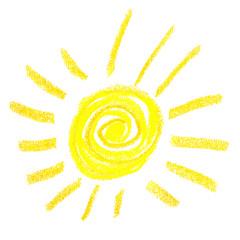Sonne Icon Pastelle Skizze Vektor
