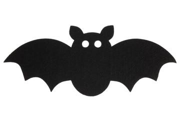 Felt bat cut out decoration isolated on white