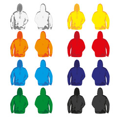 Set of colorful Hoodies