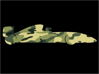 Wall Mural - F1 Camouflage Racing