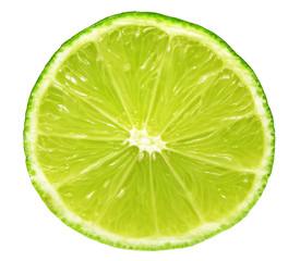 closeup of lime slice