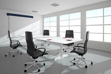 Bright office with windows
