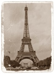 FOTO ANTIGUA DE LA TORRE EIFFEL DE PARIS