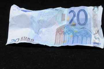 Crumpled Banknotes Money