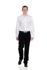 teen boy wearing casual clothing
