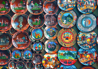 Colorful Peruvian handcrafted plates