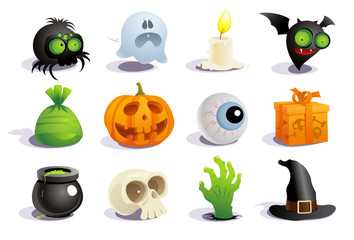 Halloween symbols collection.