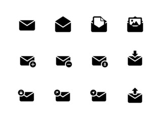 Email icons on white background.