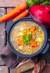 Vegetarian vegetable and lentil stew