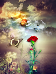 Canvas Prints Imagination Dream landscape