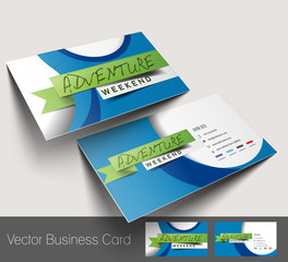 Vector Travel Agent Business Card Set