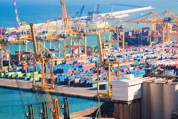 Port de Barcelona -  logistics port area