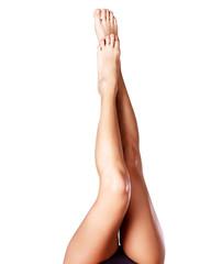 Beautiful female legs after depilation