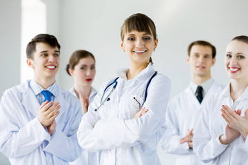 Successful female doctor