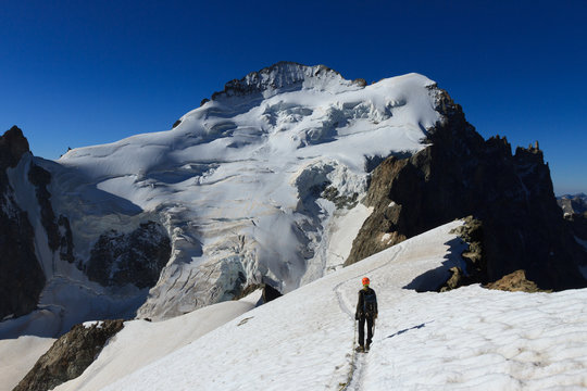 Mountaineer and Barre des Ecrins