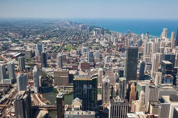 View on Chicago skyline panorama