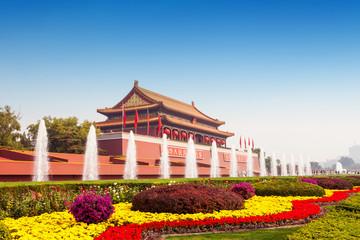 Foto op Plexiglas Beijing gate tower of Tiananmen in Beijing