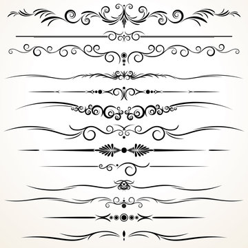 Ornamental Rule Lines in Different Design