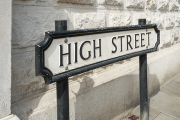 High Street road sign