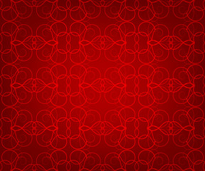 Openwork seamless pattern on a red background
