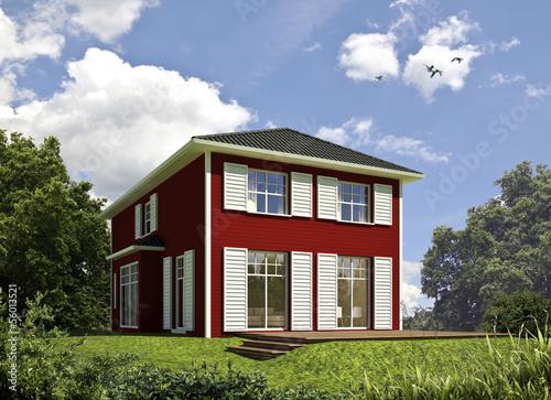 schwedenhaus rot stockfotos und lizenzfreie bilder auf. Black Bedroom Furniture Sets. Home Design Ideas