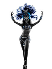 Photo sur Aluminium Carnaval woman samba dancer silhouette