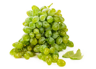 green grapes over white