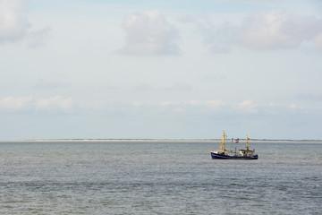 Fishing boat at wadden sea