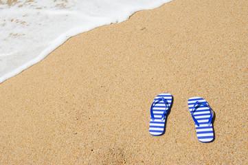 Flip flops at beach