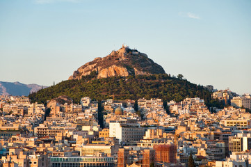 Recess Fitting Athens View of Athens and Mount Lycabettus, Greece.